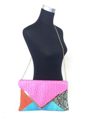 Envelop tas multicolor-snake print