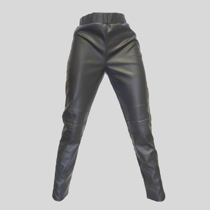 Biker tregging zwart leather look
