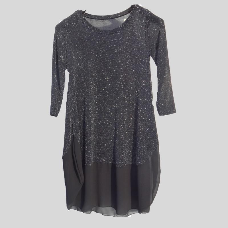 jurk zwart glinstering
