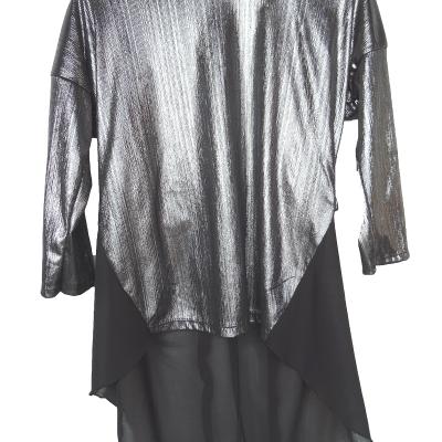 tuniek zilver metallic asymetrisch