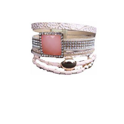 Boho armband roze