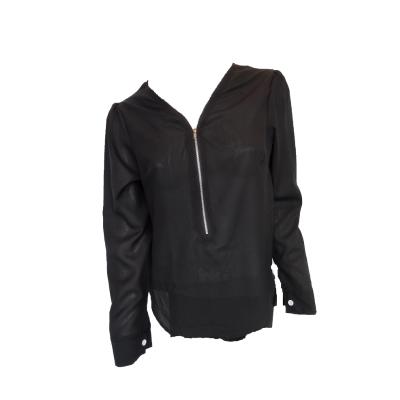 zwarte blouse met rits