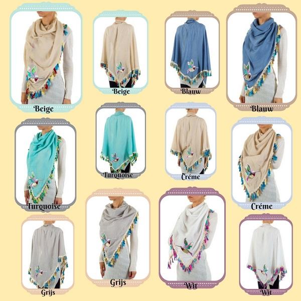 Ibiza sjaal diverse kleuren