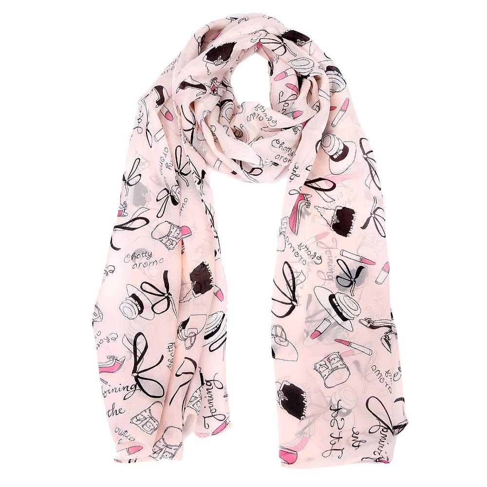 sjaal roze lipstick