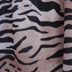 Ballon blouse beige-zwart maat 46-48