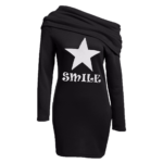 Sweater dress Star zwart