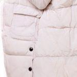 Dons jas met fakefur kraag in de kleur ecru gebroken wit