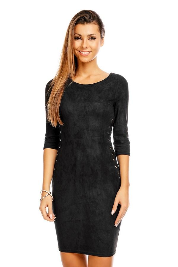 suède look jurk zwart van in vogue ⋆ be yourself fashion