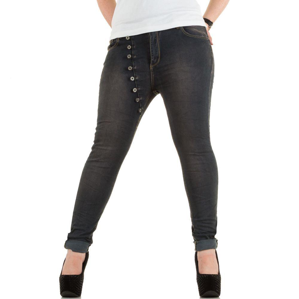 dames jeans donker grijs grote maat