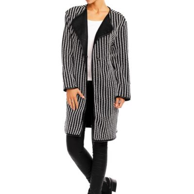 chique half lange zwart witte vest