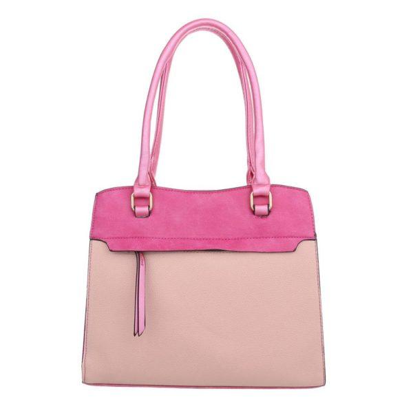 handtas 2 kleuren roze