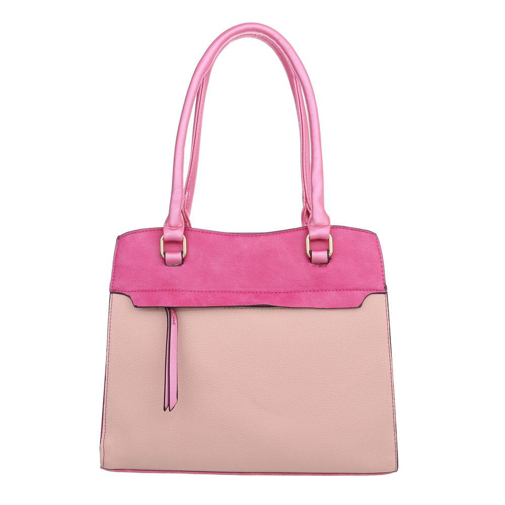 168d82ad6e5 Schoudertas 2 kleuren roze met handvat en riem ⋆ Be Yourself Fashion