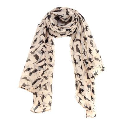 Sjaal met katten print