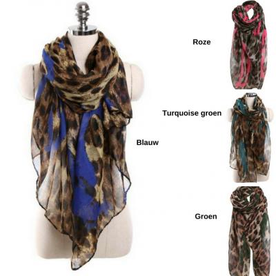 grote sjaals met luipaardprint