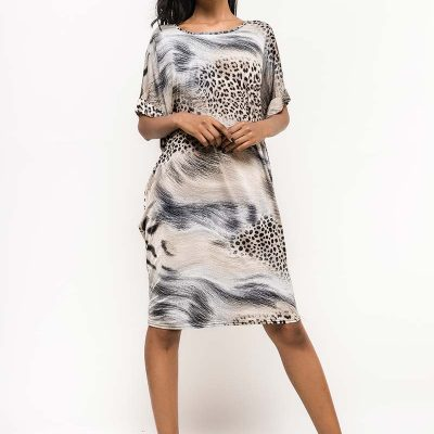 luipaarden print jurk