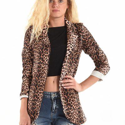 Luipaardprint dames blazer