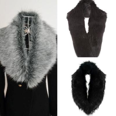 fake fur sjaal grijs of zwart