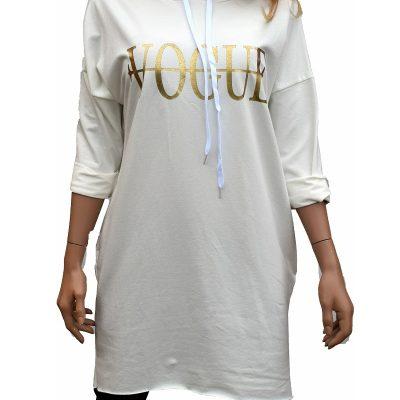 Hoodie wit met Vogue tekst
