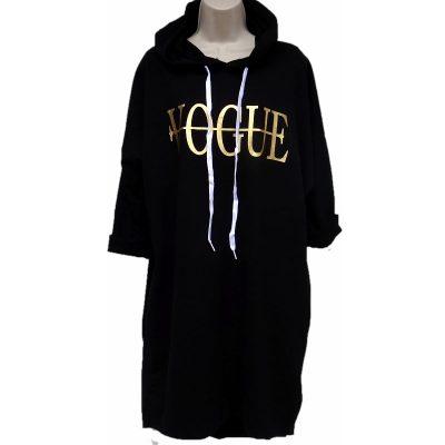 Hoodie zwart met Vogue tekst